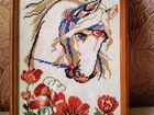 Вышивка крестом лошади маки 46