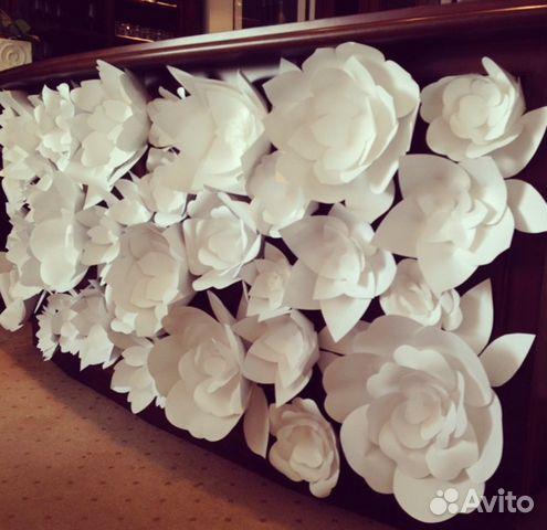 Огромные розы из бумаги