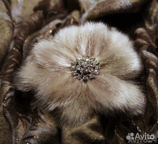 Цветы из натурального меха