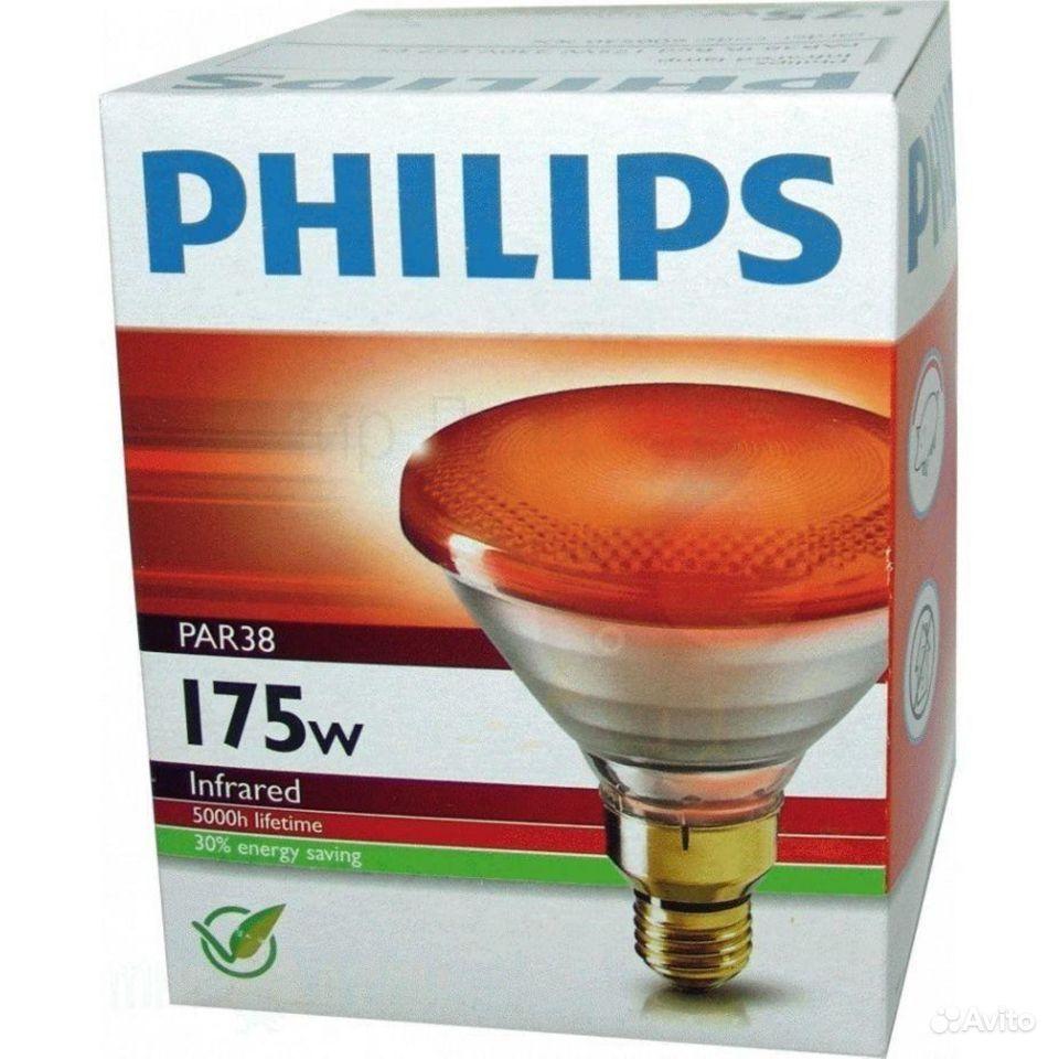 Лампа накаливания Philips (красная) 175 Вт