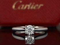 Cartier Solitaire оригинальное платиновое кольцо