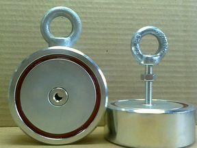Поисковый двухсторонний магнит f200*2 (зао редмаг).