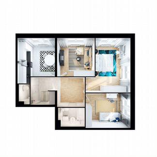 3-к квартира, 72.5 м², 19/25 эт. объявление продам