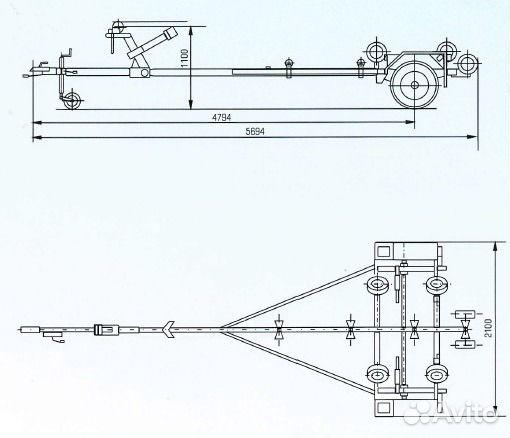 Лодочный прицеп лав-81014 (для
