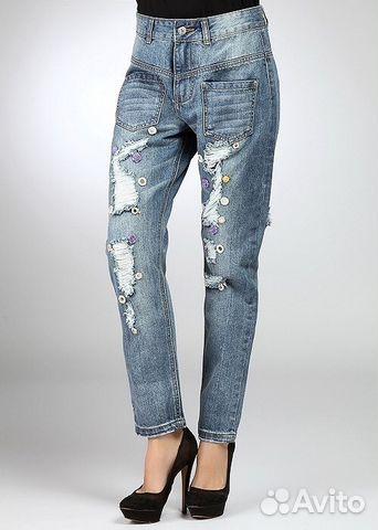 беременные джинсы на флисе
