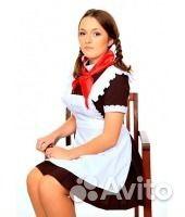Школьное платье на выпускной, форма СССР купить в Москве на Avito ... a69df8cec77