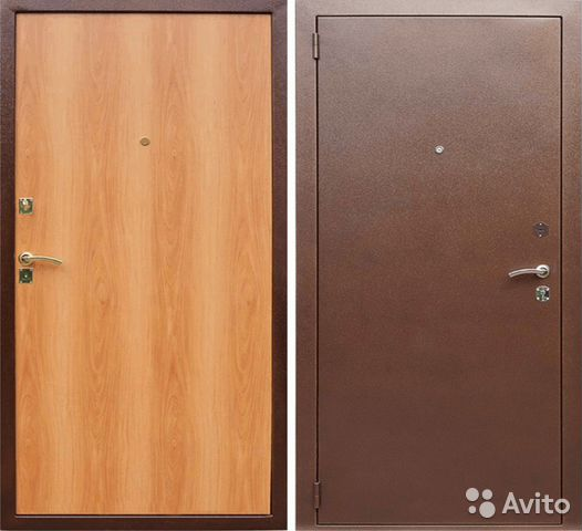 металлические двери в подъезд крашенные