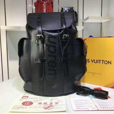 Рюкзак Louis Vuitton Supreme Черный Lv Christopher купить в Москве ... c24f51f8d1a