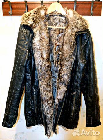 e142f87cc6c Мужская куртка из натур. кожи и с натур. мехом
