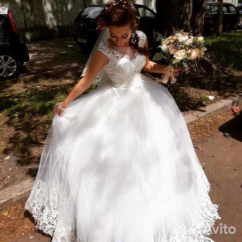 27be9a3d0 Свадебное платье +фата купить в Калининградской области на Avito ...