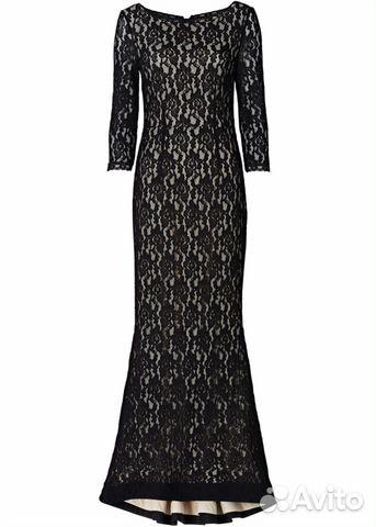 a4f8aa4b1d6 Длинное черное кружевное платье в пол - Личные вещи