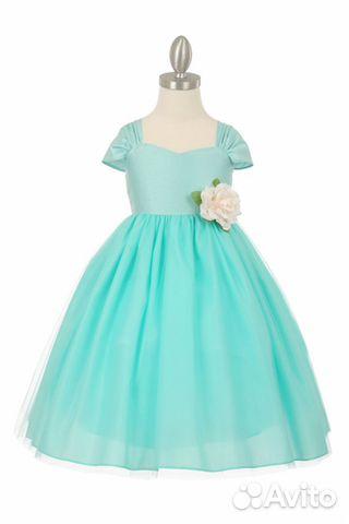 aacaba1af161 Нарядное голубое платье на новый год