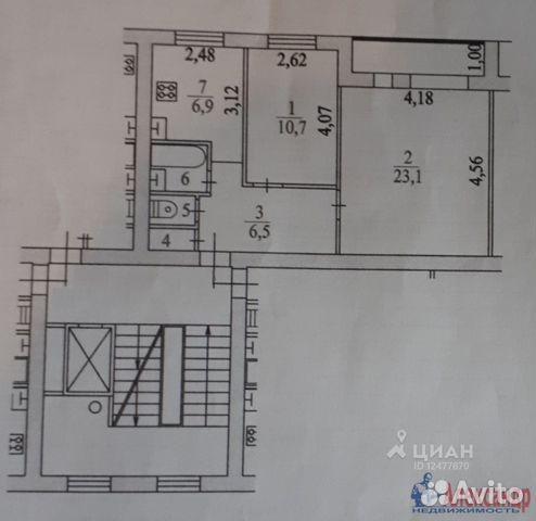 Продается двухкомнатная квартира за 3 500 000 рублей. Ленинградская обл, Всеволожский р-н, г Сертолово, ул Молодцова, д 9.