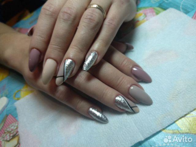 Коррекция ногтей акрил под лак
