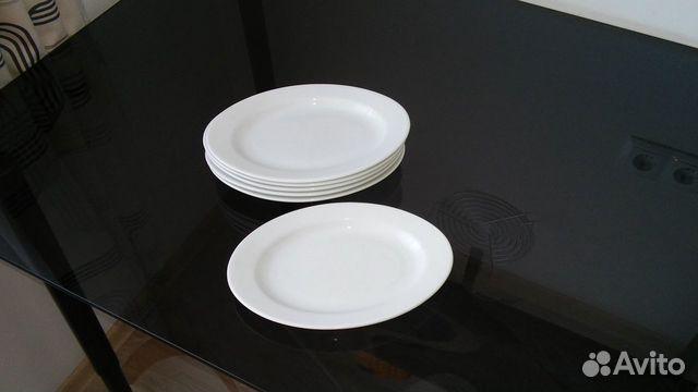 Белые тарелки,столовый фарфор,Польша