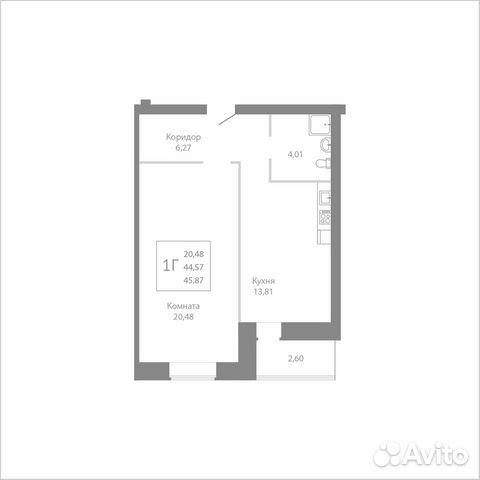 1-к квартира, 45.9 м², 6/8 эт. 89115506177 купить 1