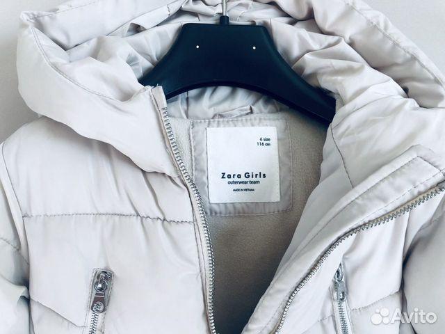 Куртка Zara осень зима для девочки 116