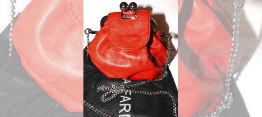 f8a25c581ed3 Женская кожаная сумка Nina Farmina mini bag red купить в Москве на Avito —  Объявления на сайте Авито