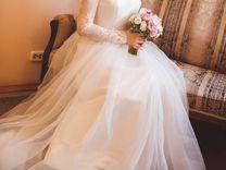 Белоснежное свадебное платье принцессы
