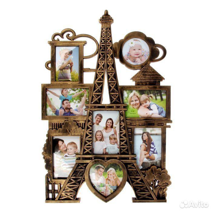 Фоторамка Панорама Парижа на 8 фото 10х10 см, 9х  89674704717 купить 2