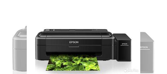 Цветной Epson L132 формат А4 купить в Бурятии с доставкой   Бытовая электроника   Авито