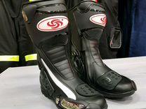 Высокие мотоботы сапоги мотоцикла мото обувь