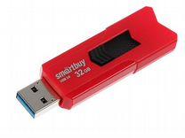 Флеш-накопитель 32Gb SmartBuy Stream, USB 3.0, кра