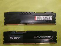 DDR 3 8gb HyperX Fury 1866Mhz одна планка
