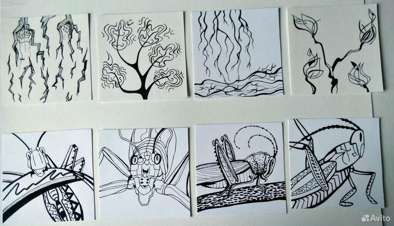Графические рисунки/ карточки, животные/ растения