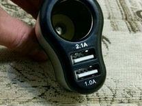 Pазветвитель в прикуриватель с 2 USB