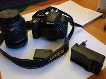 Фотоаппарат nikon d3200 18-55 VR Kit + доп.батарея