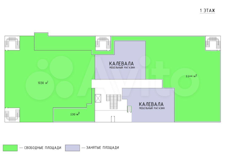 Торговое помещение, 2300 м²  285010 купить 10
