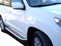 Пороги с листом toyota Land Cruiser Prado 150