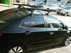 Багажник на крышу п/у черной Киа Рио 3 седан 16г