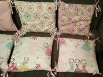 Новые бортики в кроватку + лоскутное одеяло