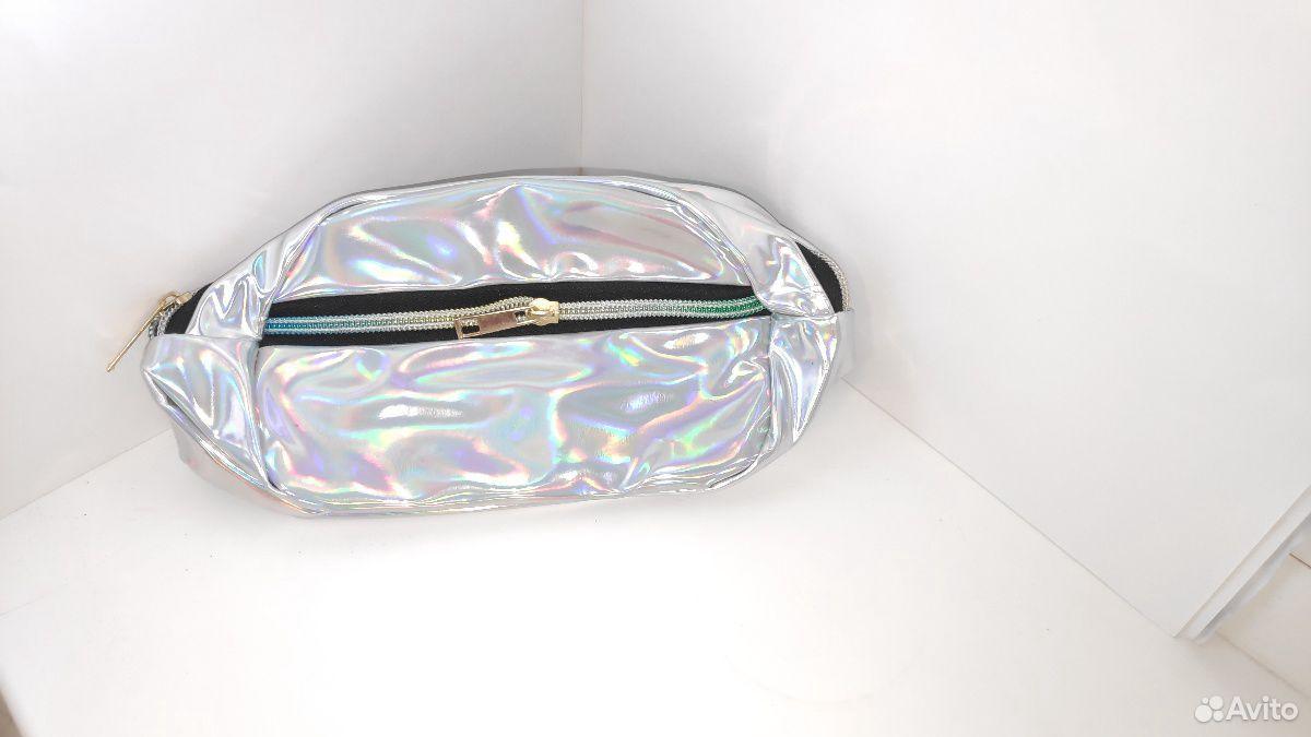 Голографическая поясная сумка (косметичка)  89377776487 купить 3